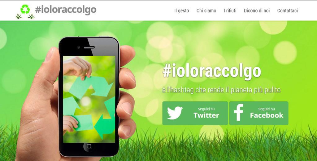 Nuova homepage sito #ioloraccolgo